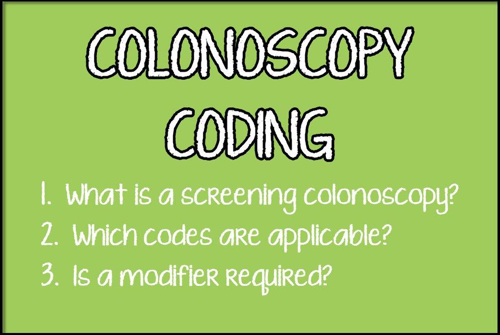 Coding Colonoscopies